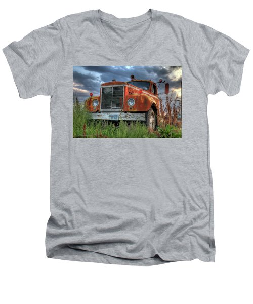 Orange Truck Men's V-Neck T-Shirt