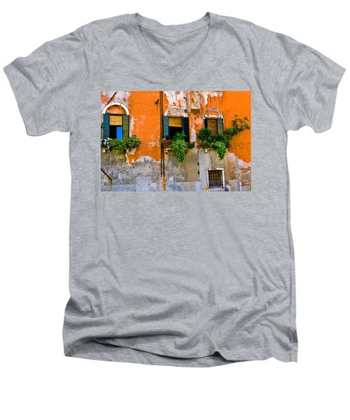 Orange Wall Men's V-Neck T-Shirt