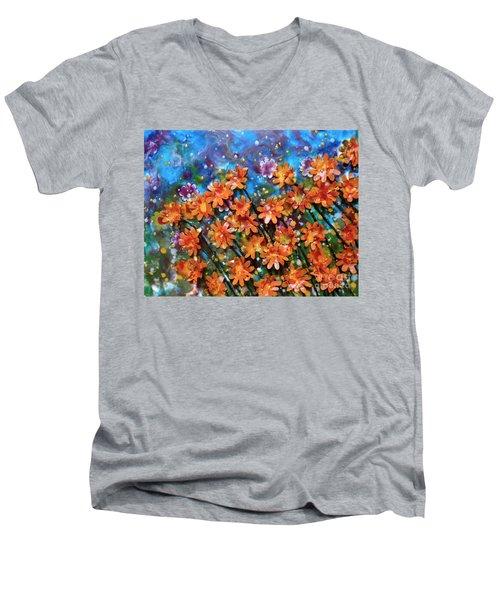 Amazing Orange Men's V-Neck T-Shirt