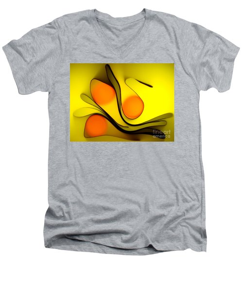 Oranges Men's V-Neck T-Shirt by Trena Mara