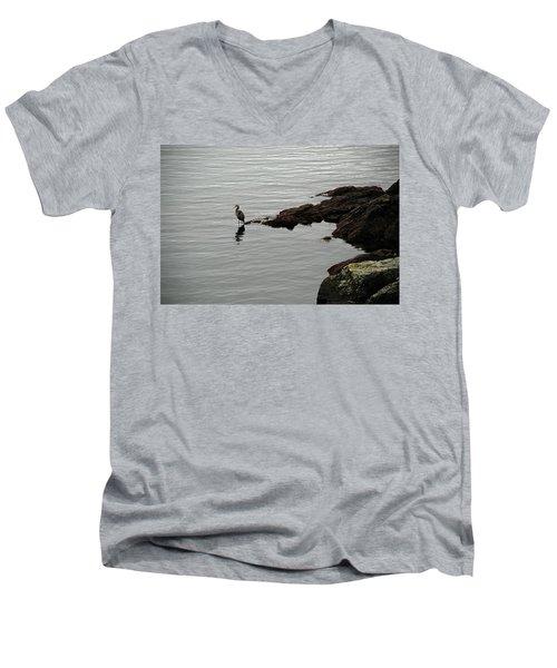 Orcas Island Bird  Men's V-Neck T-Shirt