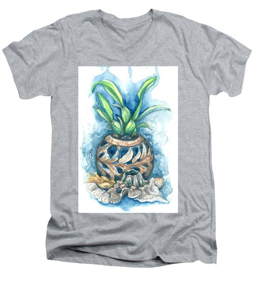 Orchid And Barnacle Men's V-Neck T-Shirt