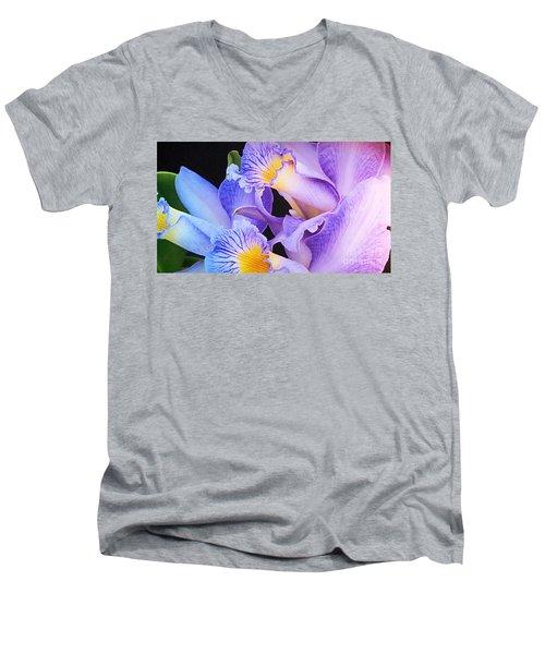 Orchid Bouquet Men's V-Neck T-Shirt