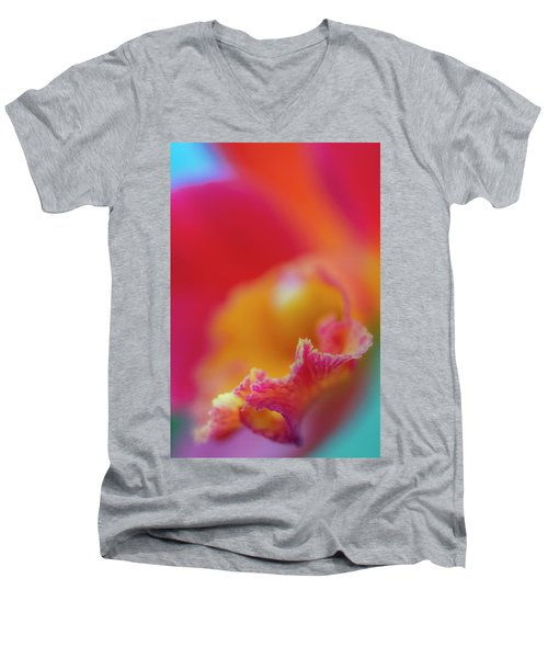 Orchid Detail Men's V-Neck T-Shirt
