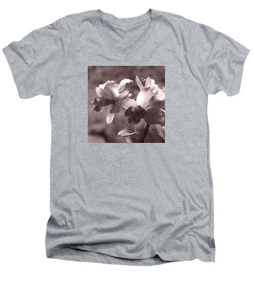 Orchid Dream - Square Men's V-Neck T-Shirt by Kerri Ligatich