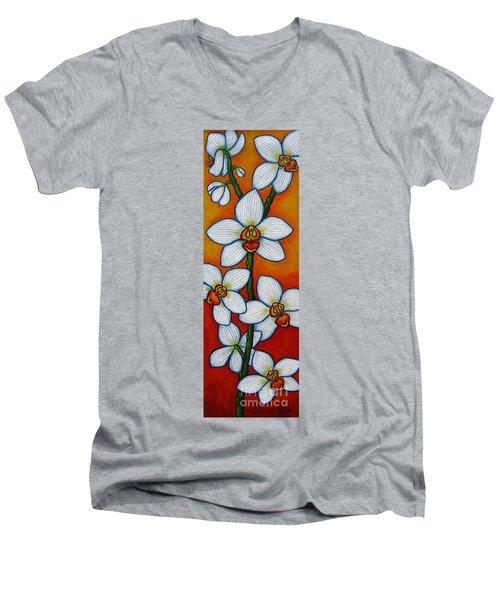 Orchid Oasis Men's V-Neck T-Shirt