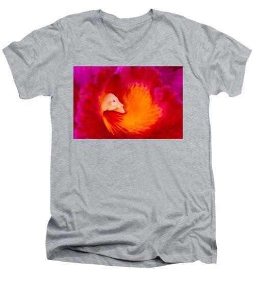 Orchid Vortex 458 Men's V-Neck T-Shirt
