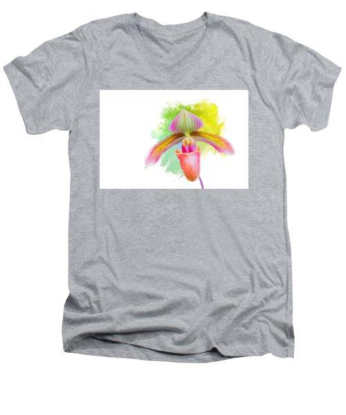 Orchid Whimsy Men's V-Neck T-Shirt