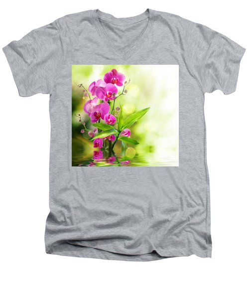 Orchidaceae Men's V-Neck T-Shirt