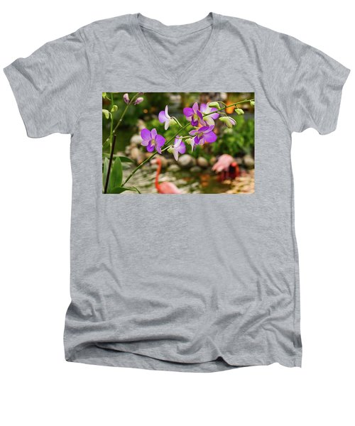 Orchids In Paradise Men's V-Neck T-Shirt
