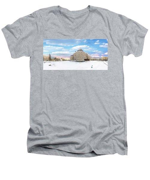 Orebro Castle Men's V-Neck T-Shirt by Marius Sipa