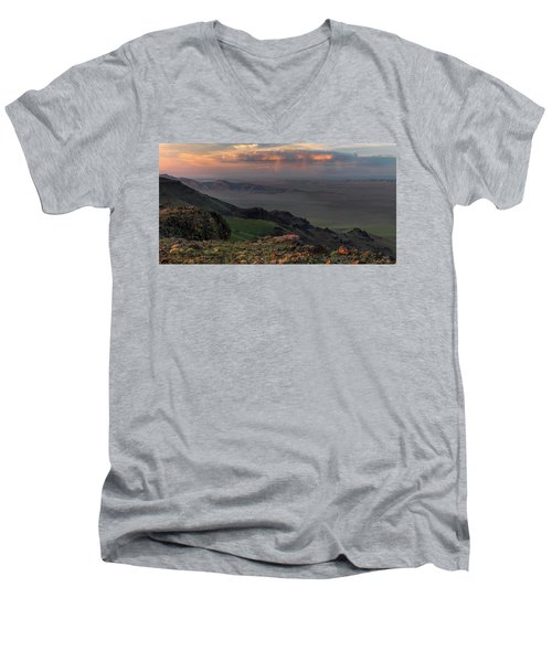 Men's V-Neck T-Shirt featuring the photograph Oregon Canyon Mountain Views by Leland D Howard