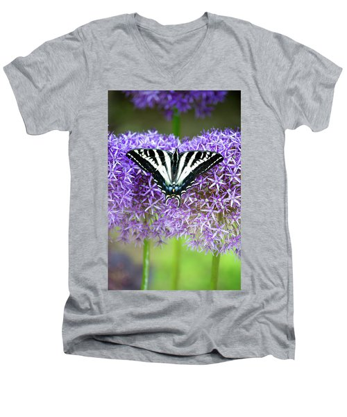 Men's V-Neck T-Shirt featuring the photograph Oregon Swallowtail by Bonnie Bruno