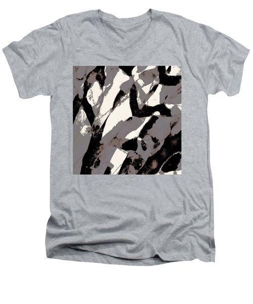 Organic No 2 Abstract Men's V-Neck T-Shirt