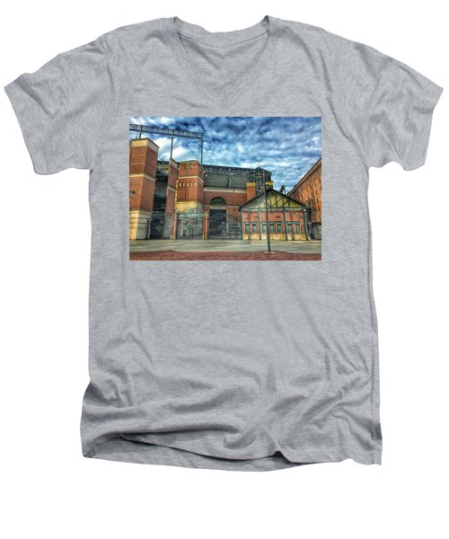 Oriole Park At Camden Yards Gate Men's V-Neck T-Shirt