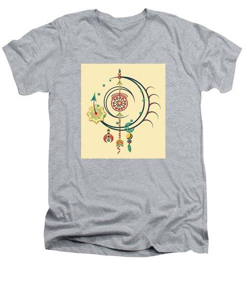 Ornament Variation Three Men's V-Neck T-Shirt by Deborah Smith