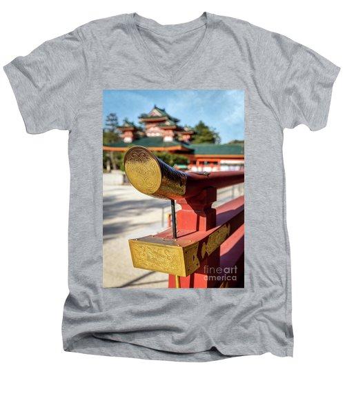 Ornate Details O Heian Jingu Shrine In Kyoto Men's V-Neck T-Shirt