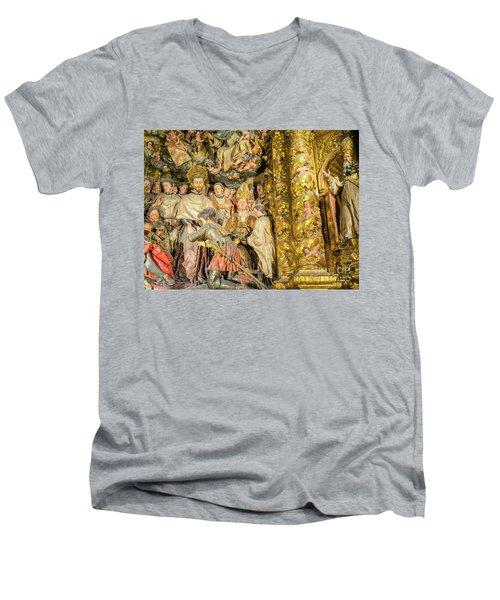 Ornate Gold Guilded Altar Men's V-Neck T-Shirt