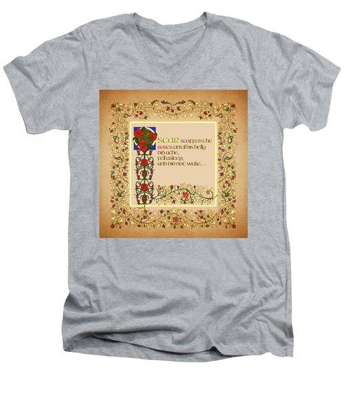 Men's V-Neck T-Shirt featuring the digital art Oscar Alternative Ending by Donna Huntriss