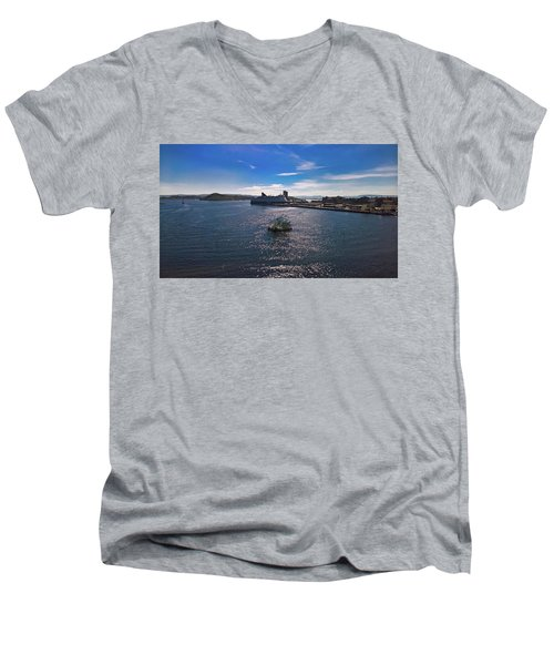 Oslo Fjord From The Roof Of The National Opera House Men's V-Neck T-Shirt