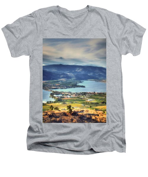 Osoyoos Lake 2 Men's V-Neck T-Shirt by Tara Turner