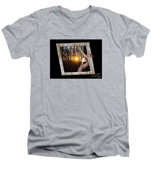 Osprey At Sunset  Black Men's V-Neck T-Shirt