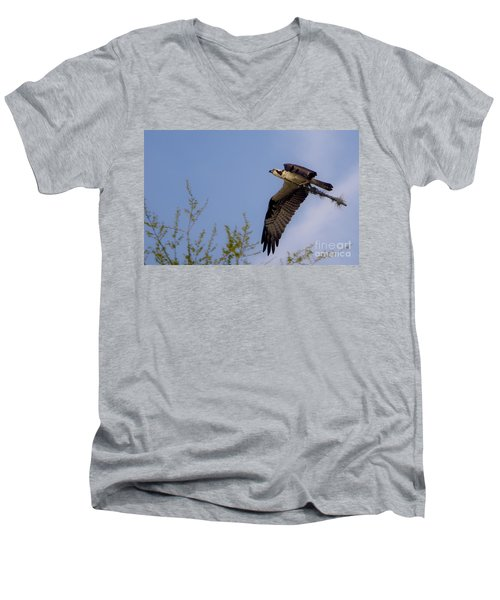 Osprey Collecting Sticks Men's V-Neck T-Shirt