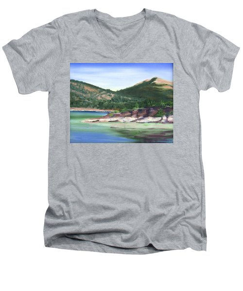 Osprey Island Flaming Gorge Men's V-Neck T-Shirt