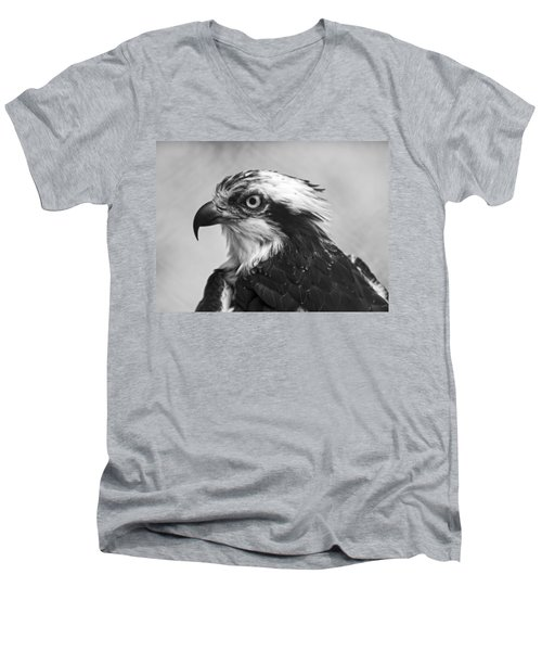Osprey Monochrome Portrait Men's V-Neck T-Shirt
