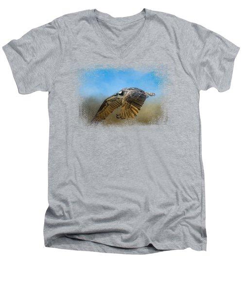 Osprey Over Pickwick Men's V-Neck T-Shirt by Jai Johnson