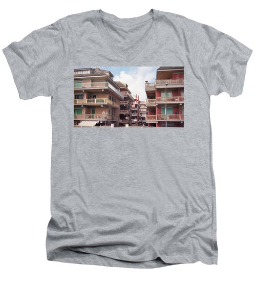 Ostias First Beach Line Men's V-Neck T-Shirt