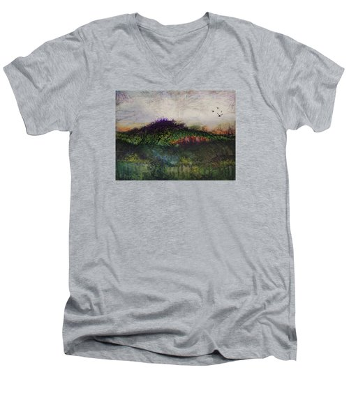 Other World 1 Men's V-Neck T-Shirt by Ron Richard Baviello