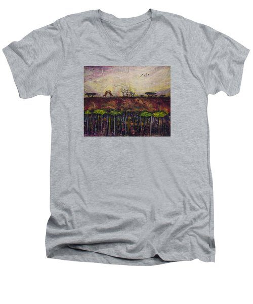 Other World 4 Men's V-Neck T-Shirt by Ron Richard Baviello