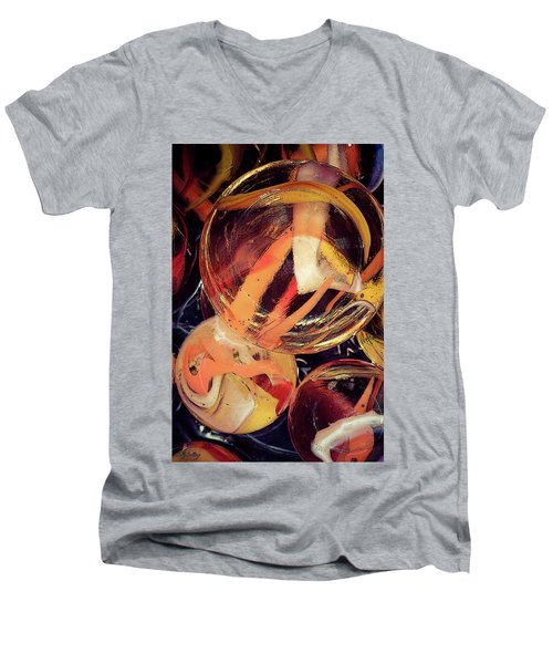 Other Worlds II Men's V-Neck T-Shirt by Shelly Stallings