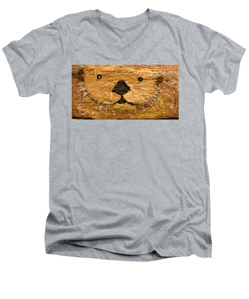 Otter Men's V-Neck T-Shirt by Ann Michelle Swadener