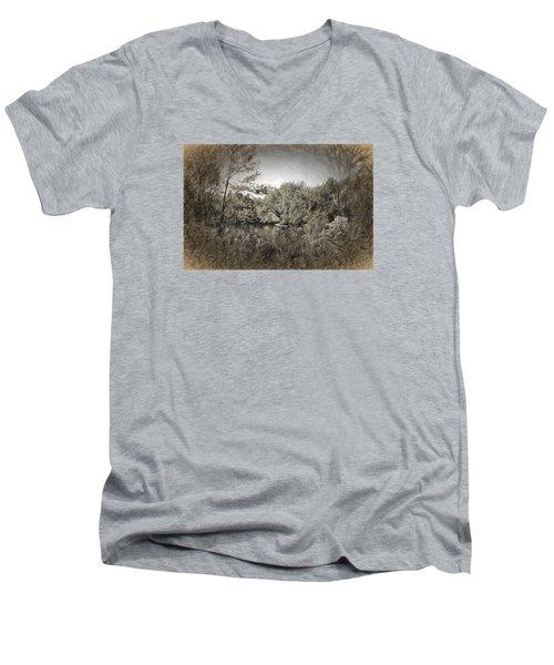 Otter Creek  Men's V-Neck T-Shirt by Rena Trepanier