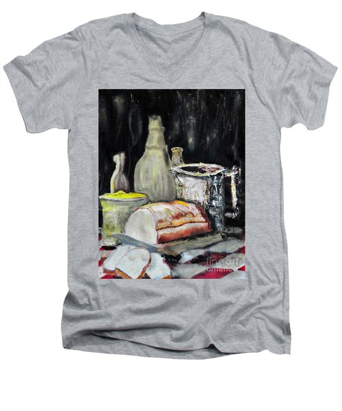 Our Daily Bread Men's V-Neck T-Shirt