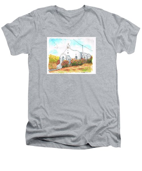 Our Lady Of Mount Carmel Catholic Church, Carmel,california Men's V-Neck T-Shirt