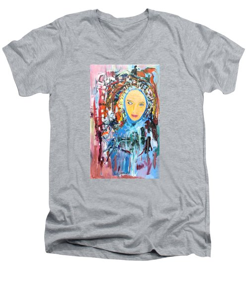 Our Lady Of The Left Eye Men's V-Neck T-Shirt