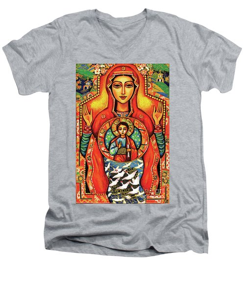 Our Lady Of The Sign Men's V-Neck T-Shirt