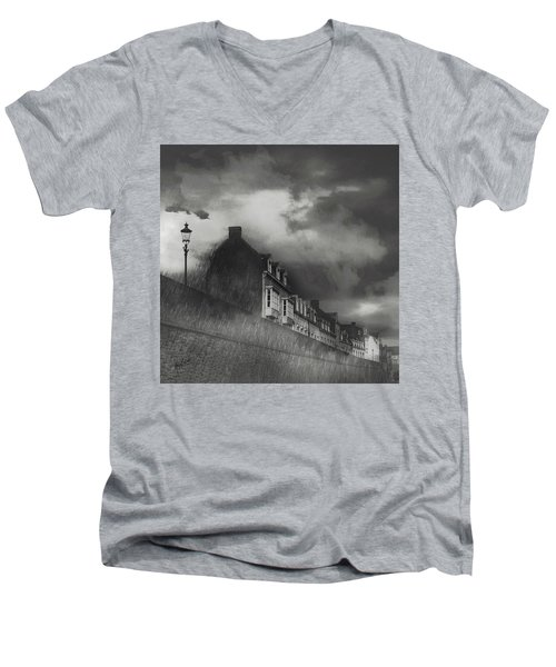 Our Lady Wall Maastricht Men's V-Neck T-Shirt by Nop Briex