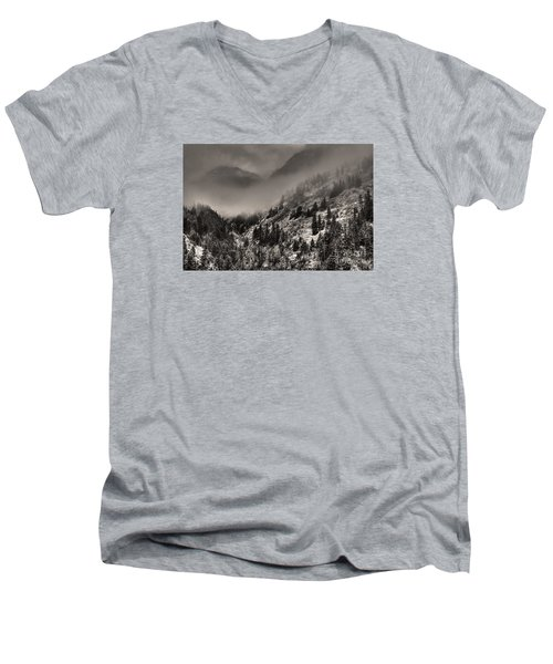 Ouray In Chinese Brush IIi Men's V-Neck T-Shirt by William Fields