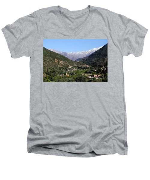 Men's V-Neck T-Shirt featuring the photograph Ourika Valley 2 by Andrew Fare