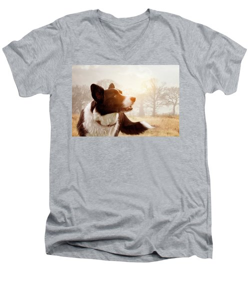 Out And About Men's V-Neck T-Shirt