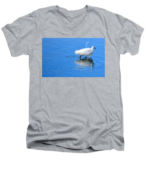 Men's V-Neck T-Shirt featuring the photograph Out Of Place by AJ Schibig