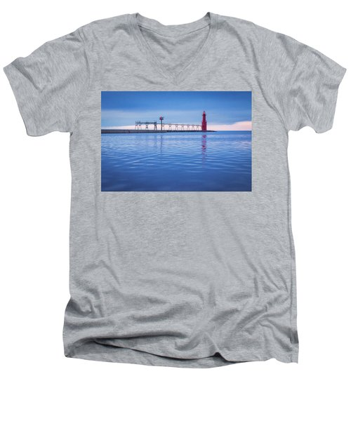 Men's V-Neck T-Shirt featuring the photograph Out Of The Blue by Bill Pevlor