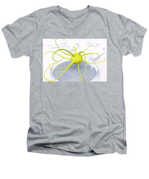 Out Of The Petri Dish... Men's V-Neck T-Shirt by Tim Fillingim