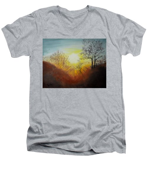 Out Of The Winter Morning Mists - 1 Men's V-Neck T-Shirt