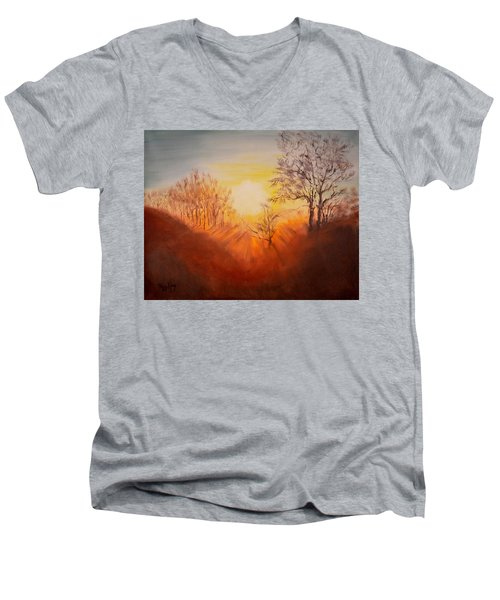 Out Of The Winter Morning Mists - 2 Men's V-Neck T-Shirt