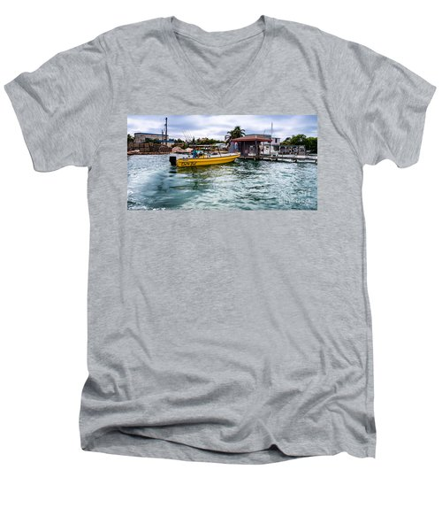 Out On Bail Men's V-Neck T-Shirt by Lawrence Burry